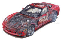 2005 Chevrolet Corvette Full Car Cutaway